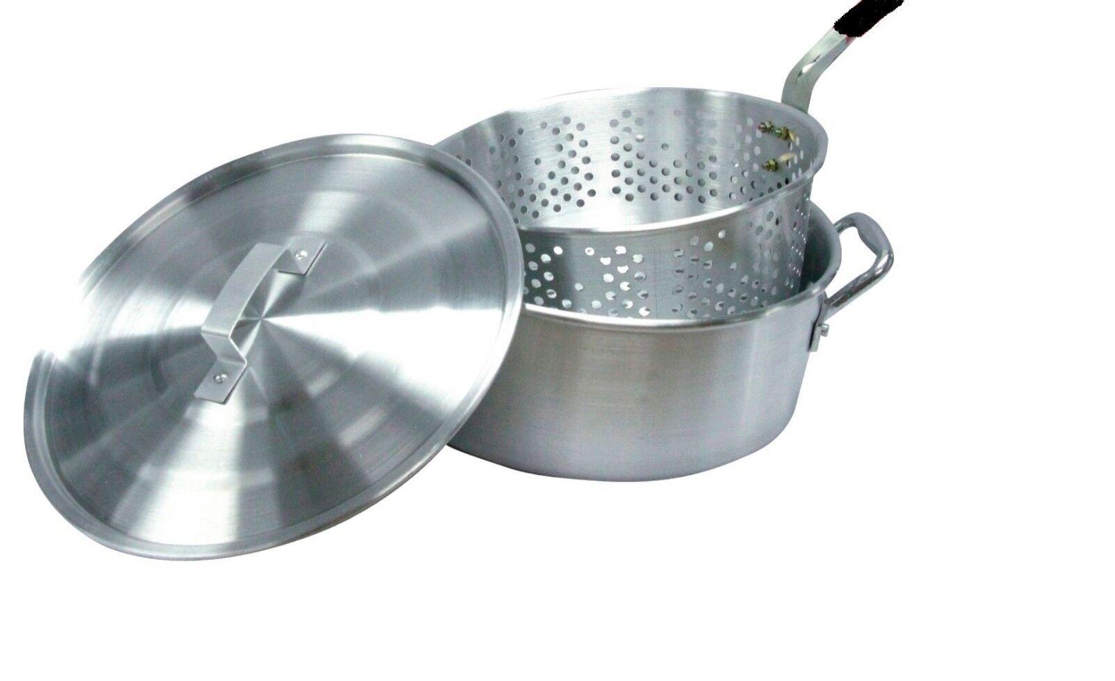 """Smart Cook Aluminum 10 Quart 12"""" Outdoor Deep Fryer Pot Bask"""