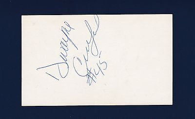 Dwayne Crutchfield Signed Football Index Card