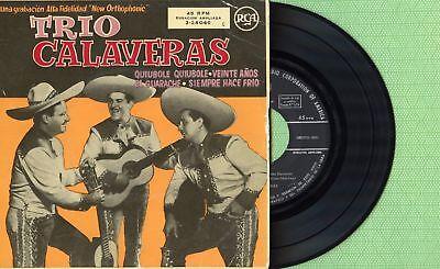 TRIO CALAVERAS / Quiubole - El Guarache / RCA 3-24046 Pressing Spain 1957 EP EX segunda mano  Embacar hacia Mexico