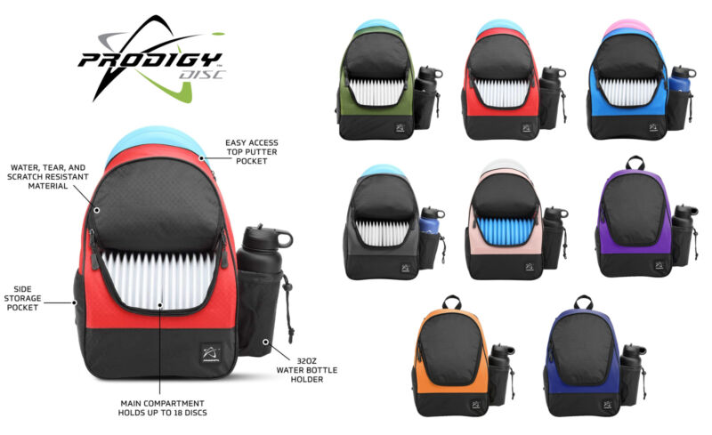 Prodigy Disc Golf Bag BP-4 Backpack (Choose Color) Holds up to 18 Discs