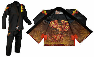 Raven Fightwear Men's The Phoenix Jiu Jitsu Gi BJJ Uniform Black  ()