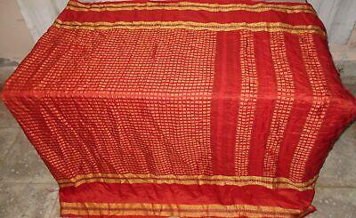 Pure silk Antique Vintage Sari EXOTIC 4Y S19 352 Orang UK #ABGOP