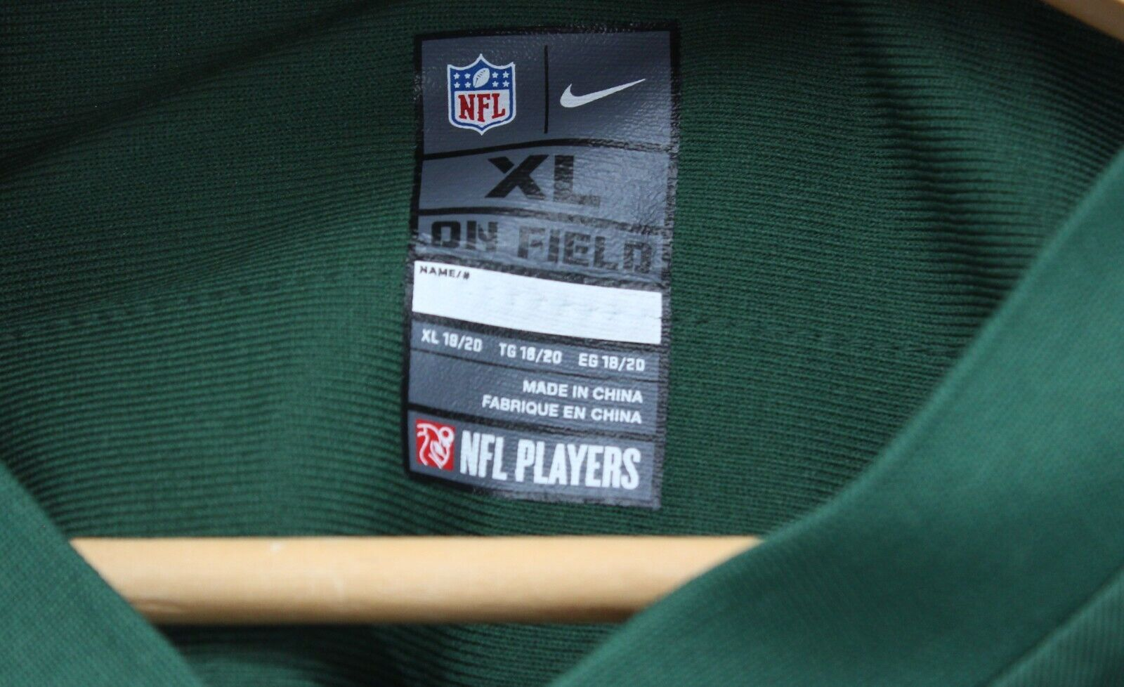 NFL Eric Decker New York Jets 87 Nike Green On Field Jersey Youth XL 18/20  - $19.95