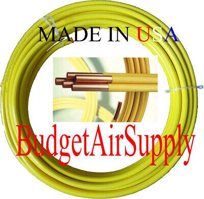 12 Od X 50 Ft.copper Yellow Plastic Polyethylene Coated Lp Propane Gas Tubing
