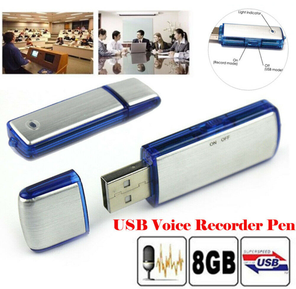 8GB Audio Voice Recorder Digital Diktiergerät SPY SPION SPIONAGE Aufnahmegerät