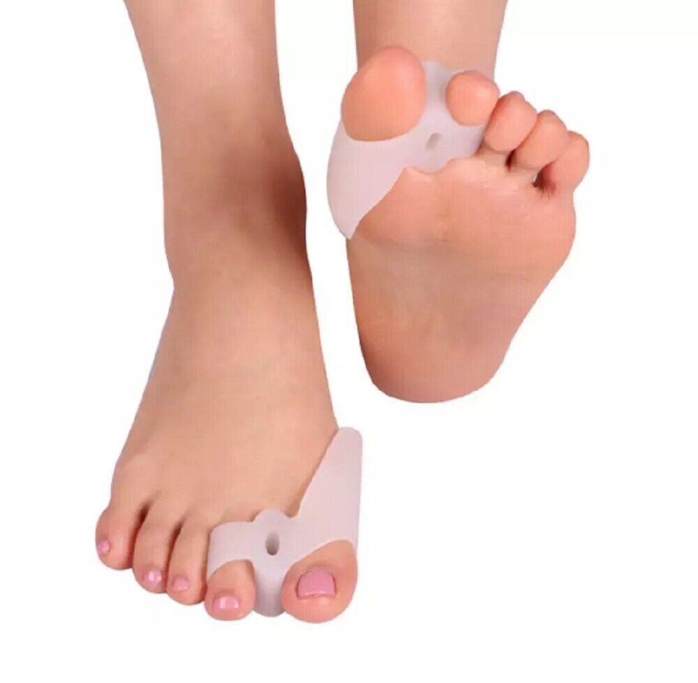 1 Pair Silicone Gel Bunion Toe Corrector Orthotics Straightener Separator Pain Foot Creams & Treatments