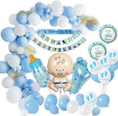 Baby Shower Dekoratione Jungen, Baby Dusche Party Deko Blau Mama, Schärpe