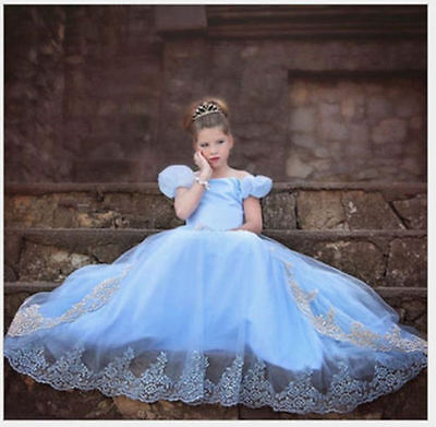 Hot Sandy Princess Cinderella Cosplay Costume Kids Girls Party Fancy Dress.Gown` - Hot Princess Costumes