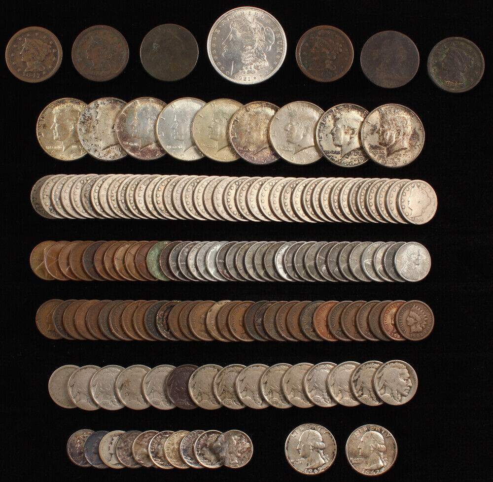 ESTATE SALE COINS ~ AUCTION LOT SILVER BULLION ~ CURRENCY COLLECTION