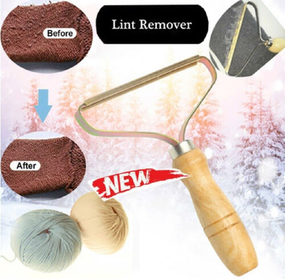 Portable Lint Remover Cloth Fuzz Fabric Shaver Metal Removing Roller Brush Tool Home & Garden
