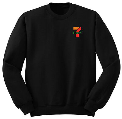 711 7 11 7 Eleven Market Sweatshirt Pullover Sweater Shirt Black No Hood
