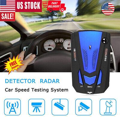 Radar do carro 360 Grau V7 Velocidade GPS 16 Banda Polícia Detector Seguro de Alerta de Voz Laser