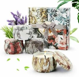 NEW Scented Candles gift box of 4 Natural Aromatherapy