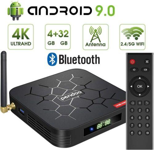 REFURBISHED Android 9.0 TV Box Pendoo X6 PRO Box 4GB DDR3 32GB Dual WiFi BT5.0