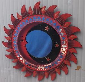 Specchio sole luna rosso diametro cm 60 con mosaico di vetro ebay - Specchio mosaico vetro ...