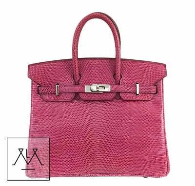 Hermes Birkin Bag 25cm Lizard Exotic Skin Fuchsia Pink PHW - 100% Authentic 99956ba8a42f1