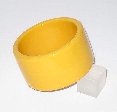 Vintage Bakelite Bracelet Bangle rare creamed corn color oversized wide