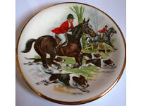 Vintage plate by Pall Mall Ware F. W. R. England Hunt Scene