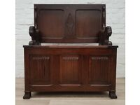Vintage Hall Bench (DELIVERY AVAILABLE FOR THIS ITEM OF FURNITURE)