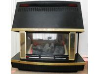 Gas fire With gas safe Certificate Glow worm Art Deco Look