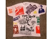 SEX PISTOLS ALL OVER SCREEN PRINTED T SHIRT SIZE XL BRAND NEW PUNK