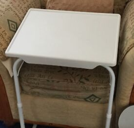 Adjustable light weight table to use under bed or chair