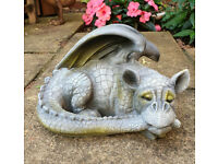 Lovely Resin Sleeping Dragon Ornament for Garden/ indoors. Excellent Condition