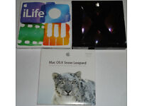 Apple Mac OS X 10.5 + 10.6 Snow Leopard (Family Pack) + iLIFE '11 Retail Boxed Software DVD Discs