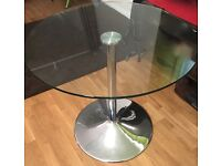 2-Seater Round Glass Dining Table - John Lewis Enzo