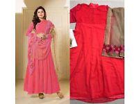 Indian Bollywood Ethnic Designer Anarkali Salwar Kameez Suit &Traditional UK-139