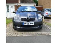 2008 TOYOTA YARIS 1.3 PETROL, MANUAL, 5 DOORS HATCHBACK, 10 MONTHS MOT, IN EXCELLENT CONDITION!!!