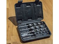 Set of 5 Wickes auger drill bits