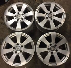 "16"" Genuine Mercedes C Class Silver Alloy Wheels W204 Fits Mercedes A B E Vito Viano A2044011102"