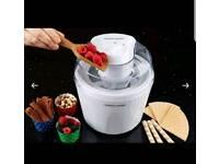 Andrew Jones Ice Cream Maker with Spare Bowl