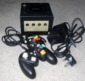 Nintendo Gamecube Black Console + Controller + PSU + AV Lead