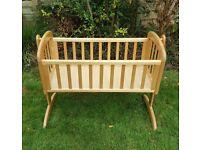 John Lewis Anna Swinging Crib Natural