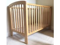 FREE John Lewis Anna cot in solid birch wood