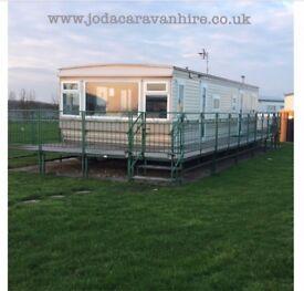 8 Berth Caravan for hire at Millfields/Skegness £50 Deposit opposite butlins