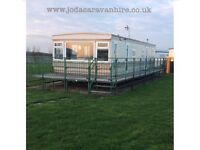8 Berth Caravan for hire at Millfields/Skegness £50 Deposit opposite butlins