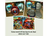 Various marvel & dc bags