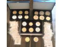 24ct Gold Plated Commerative coins - 20 coins with certificate of authenticity