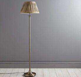 Reeded Brass Floor Lamp