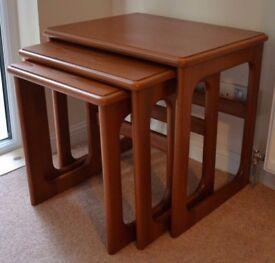 Vintage Mid Century McIntosh Cramond Teak Nest Of 3 Tables Retro