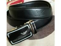 Men armani designer leather belt perfect gift