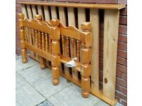 single bed pine wood frame. In excellent condition.