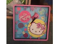 Hello kitty square wall clock