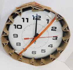 NOS SIMPLEX 2310 14 Electric Wall Clock School Industrial