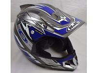 HJC AC-X2E Galaxy Motocross L Large Helmet Blue Moto Cross ACU Gold Rated Motorcycle Motorbike