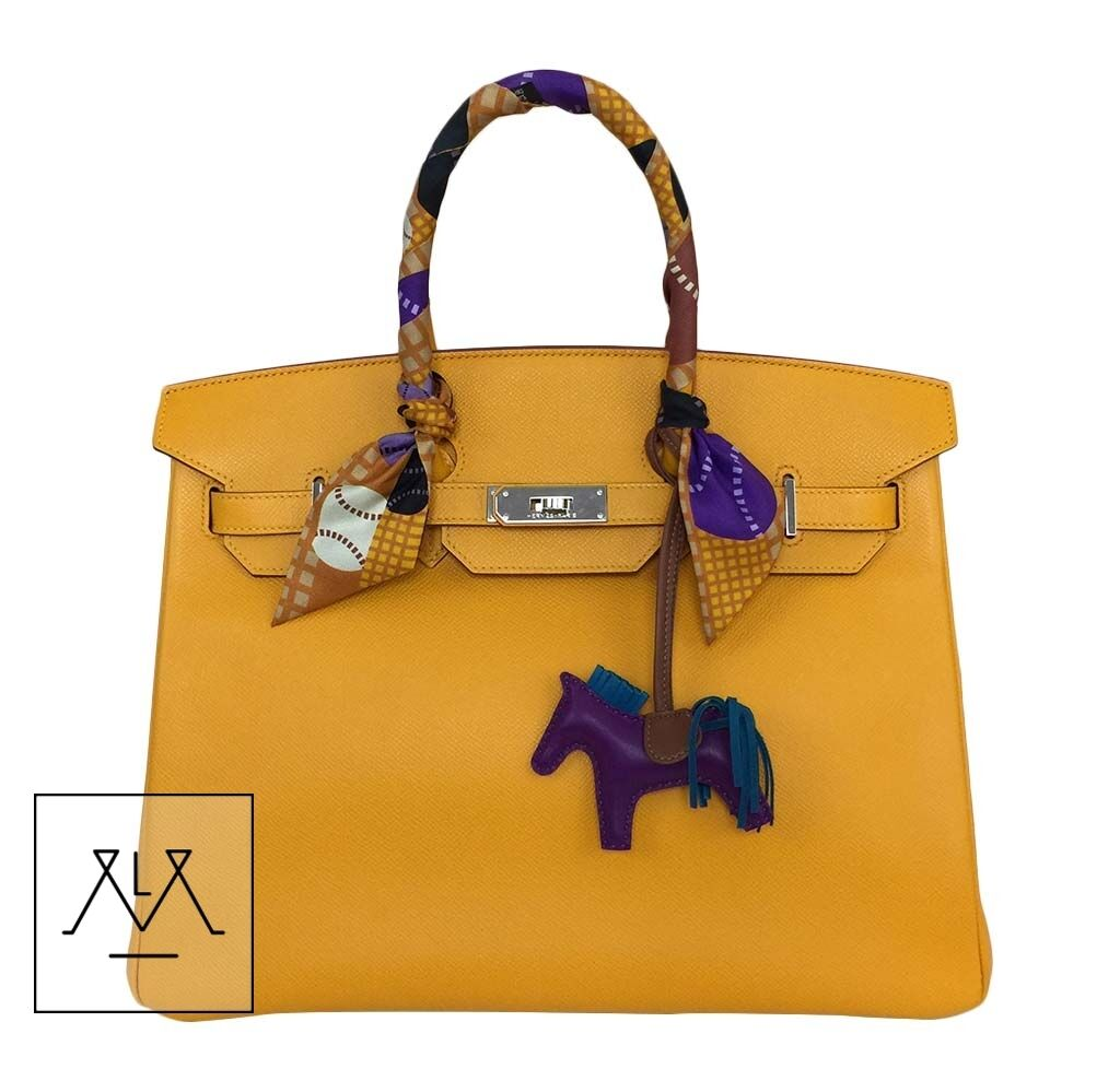 32cb495daa Details about Hermes Birkin Bag 35cm Jaune D Or Yellow Candy Collection  Limited Edition Epsom
