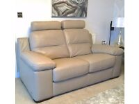 Stunning Sofology - Lazio Genuine Italian Leather 2 seater sofa with Headrests - UNUSED INC Delivery